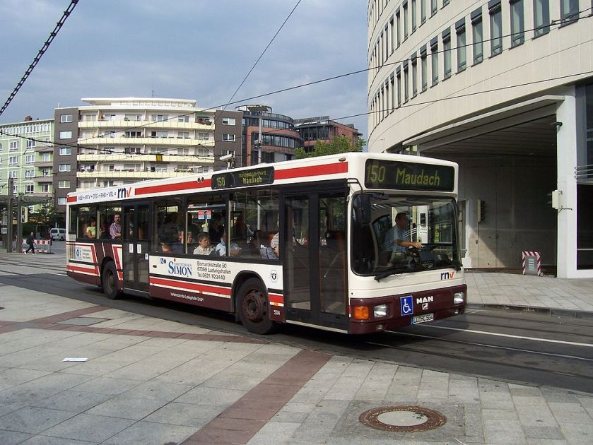 114 MAN NL 202(2) (A10) in Ludwigshafen