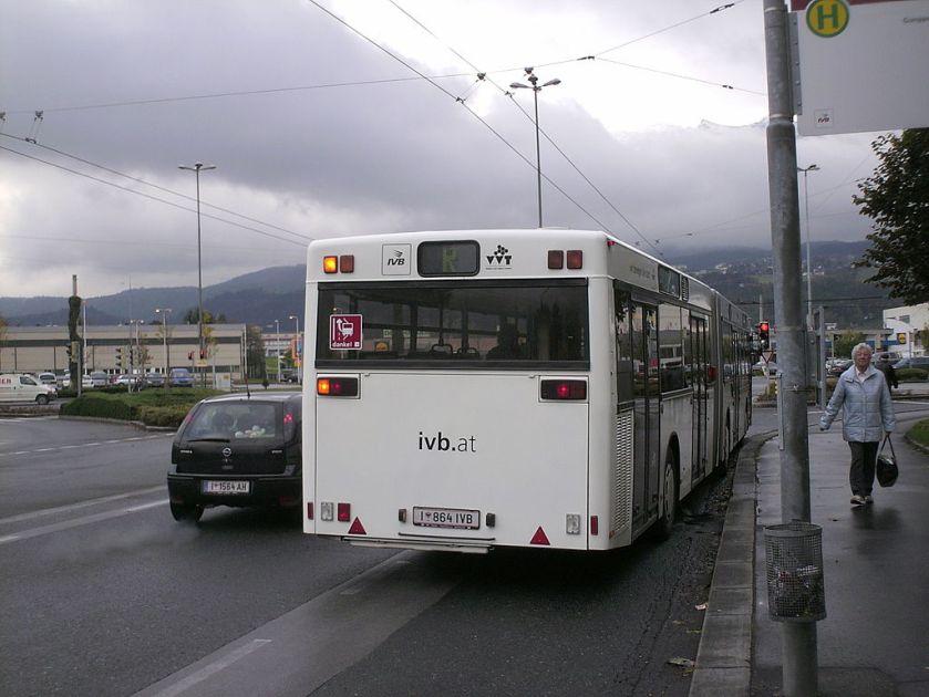 121 Wagen 864, der letzte MAN NG 272(2) der Innsbrucker Verkehrsbetriebe