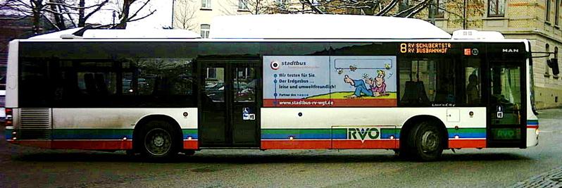 137 MAN NÜ 313 CNG Erdgasbus des RVO