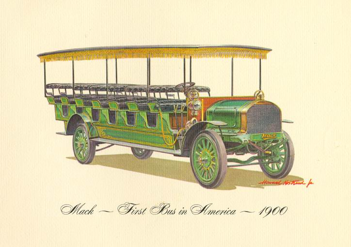 1900 Mack - first bus in America
