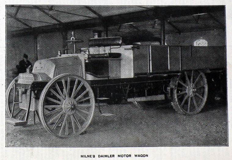 1901. Milnes Daimler Motor Wagon