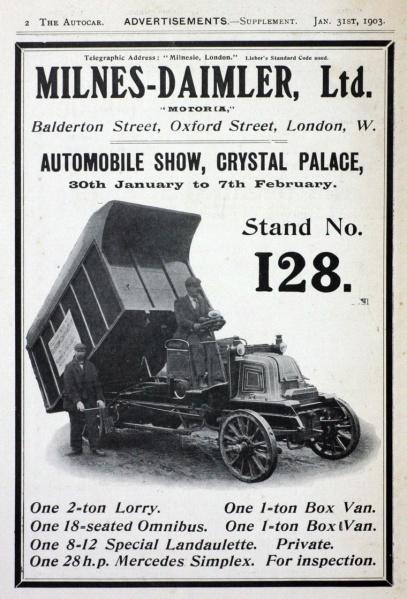 1903 Auto-Milnes Daimler
