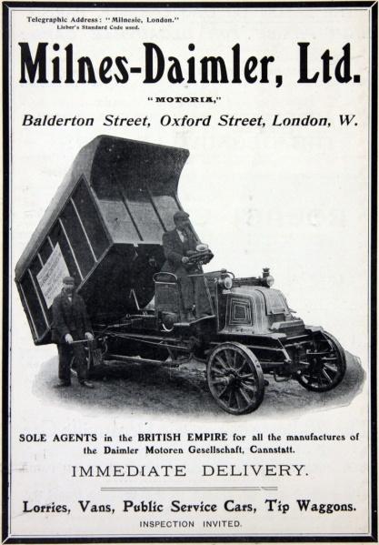 1903. Milnes-Daimler ltd. Ad