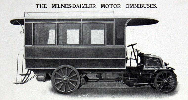 1903. Milnes Daimler Motor Omnibus.