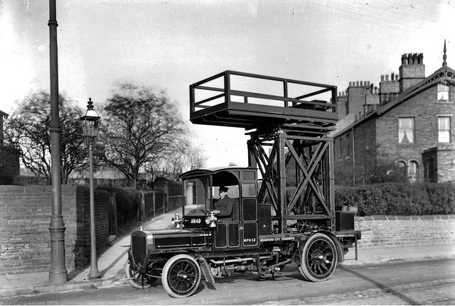 1906 Milnes-Daimler Tower Wagon AK 49 Bradford City Tramways