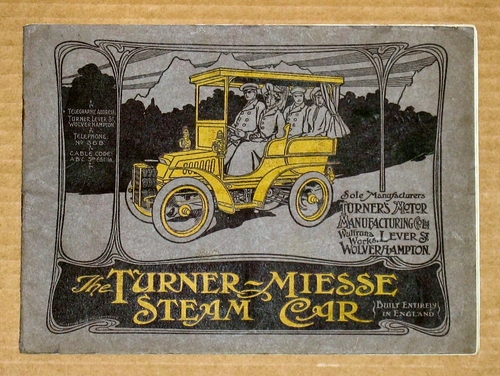 1906 Turner-Miesse Steam Car catalogue