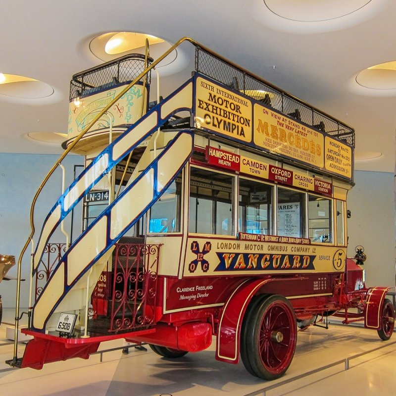1907 Milnes-Daimler Double-Decker Bus Side View