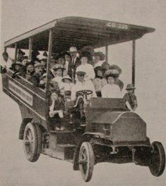 1909 Milner Daimler An excursion in a Worthing Motor Services coach, circa 1909