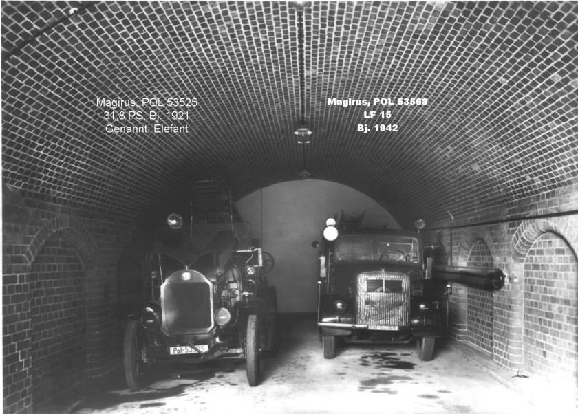 1921 Magirus Elefant und Magirus LF 15 1942