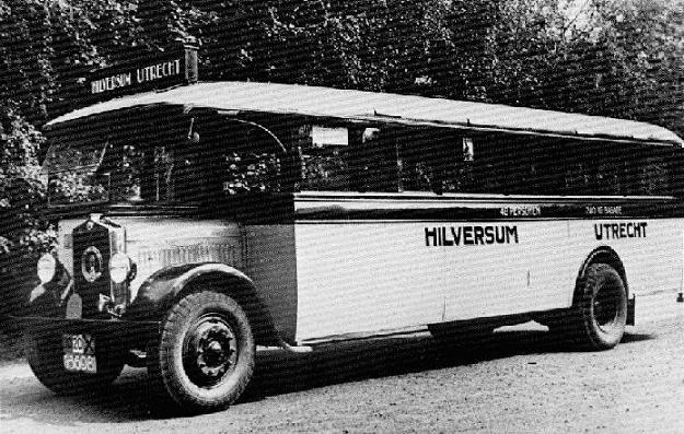 1928 Minerva bus met Asjes carrosserie en Kromhout
