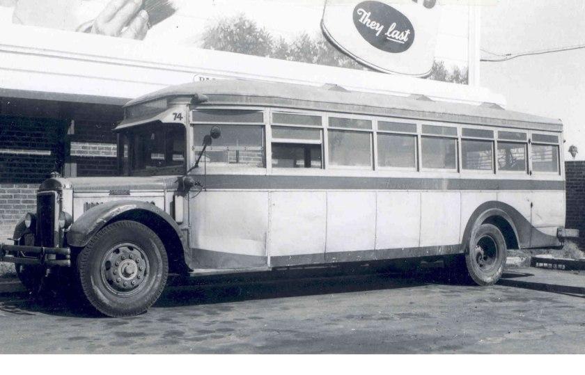 1930 Mack 6-BC-3S bus at Garage