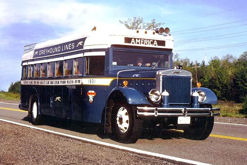 1931 Mack Model BK coach GREYHOUNDMACK