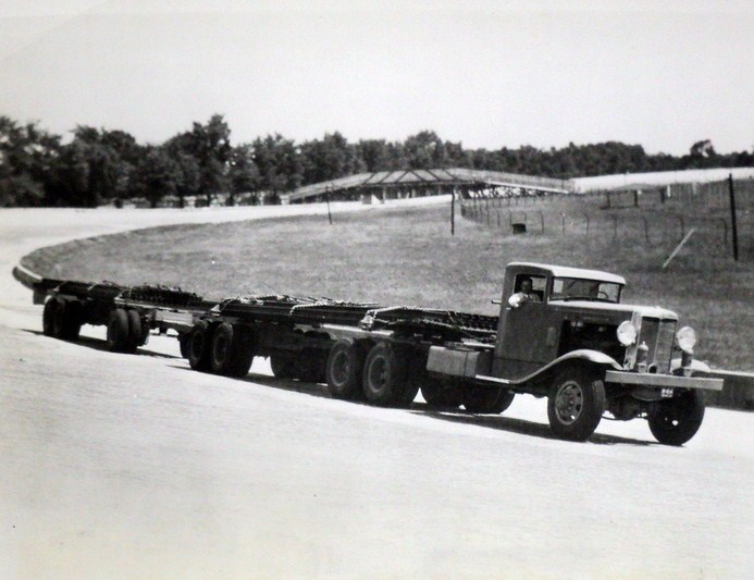 1933 Marmon Herrington Prototype TH320-6 under test at Indianapolis Motor Speedway prior to being shipped to Iraq in 1932