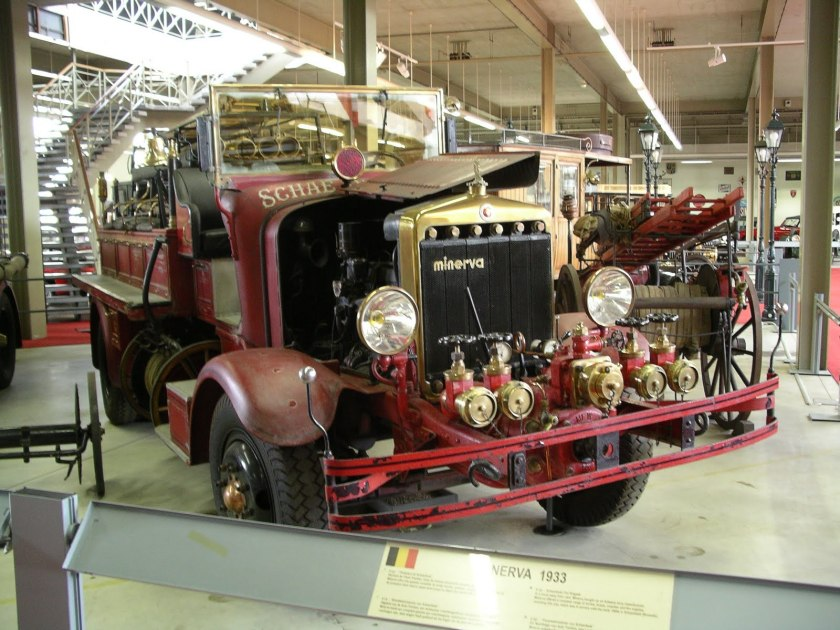 1933 MINERVA Fire Rescue car