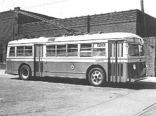 1935 Mack Model 6-CQ-4S Trolleybus