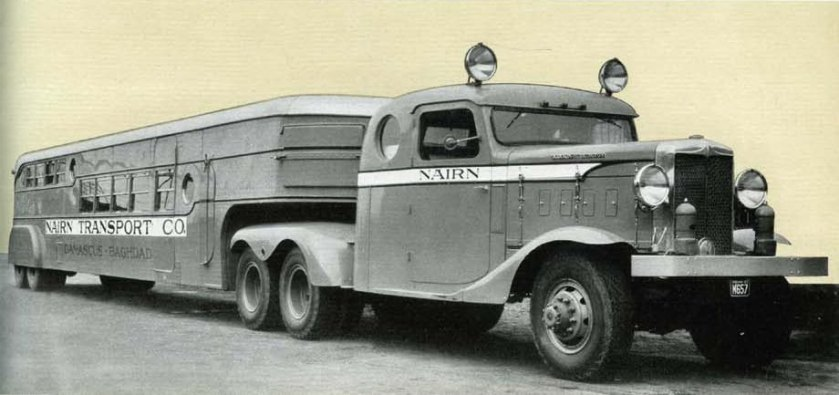 1935 Marmon-Herrington THD-315-6 with articulated omnibus trailer Nairn a