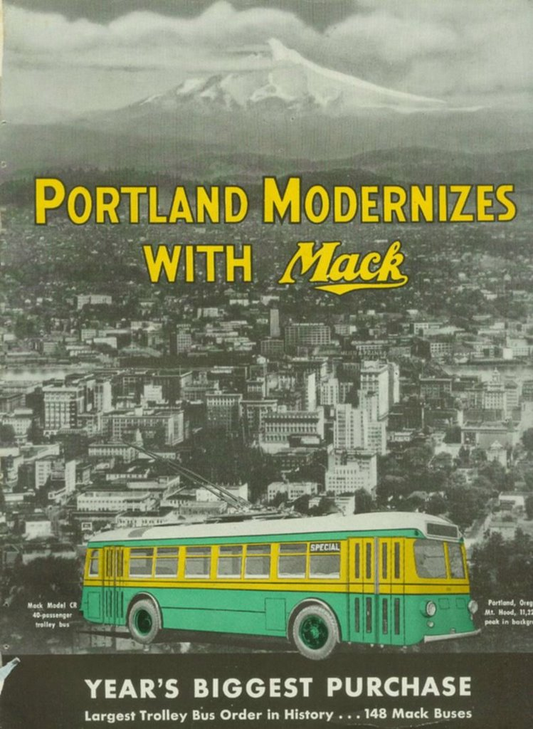 1937 Portland Traction Mack trolley coach ad.0