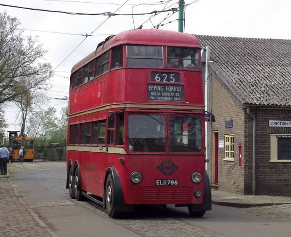 1938 London H1 class Trolleybus 796, ELB796, one of 160 in the class MCCW
