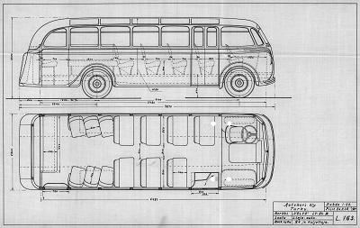 1938 Studebaker S.K.20.B-001. Matkustajaluku 31. Autokori Oy,