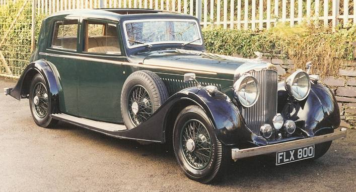 1939 BENTLEY 4 ¼ MANN EGERTON SPORTS SALOON B114MR