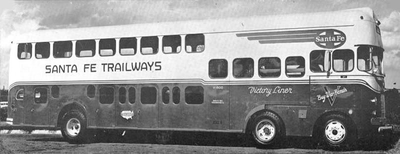1939 Mack Model CM War Bond Bus' was # 802 - a SANTAFE3