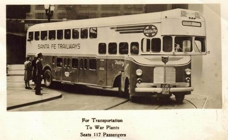 1939 Mack Model CM War Bond Bus' was # 802 - a SANTAFE3a