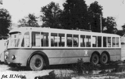 1939 trolleybus Alfa Romeo-Macchi Marelli, trolleybusly depot in Gdynia Redłowo