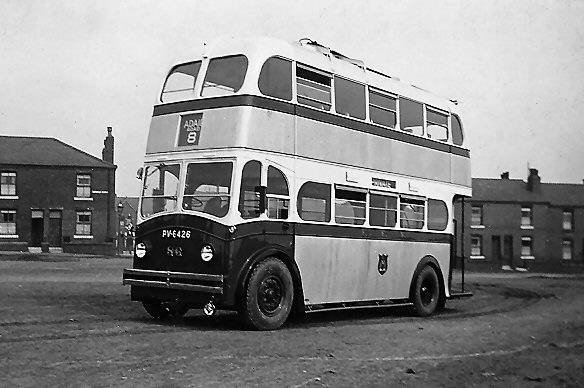 1940 Ipswich trolleybus 86, PV6426, a Ransomes with Massey H24 24R body ip86