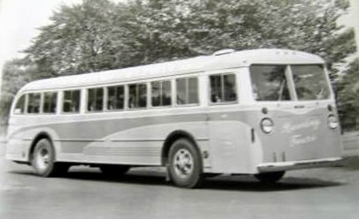 1940 Mack Model CO-3-G and one of three built for Rawding Tours of Boston, Massachusetts 1940