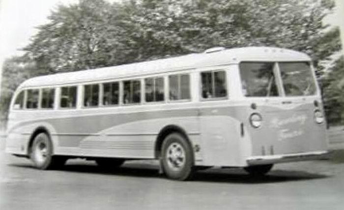 1940 Mack Model CO-3-G and one of three built for Rawding Tours of Boston, Massachusetts 1940
