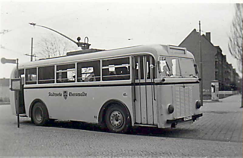 1940 MAN Trolleybus Eberswalde-O-Bus