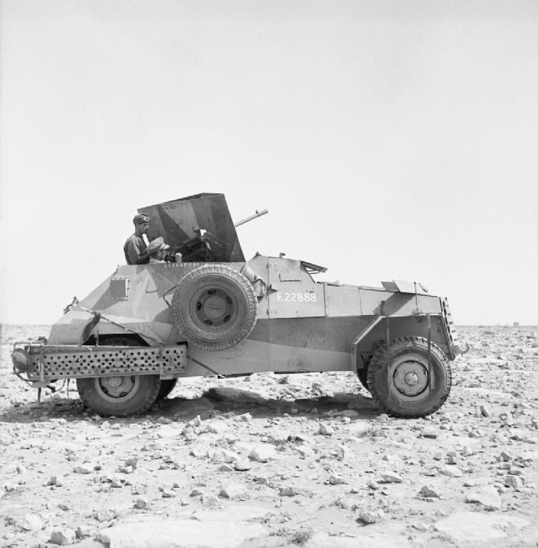 1941 Mk II with an Italian Breda 20 mm gun near Tobruk, 8 May 1941.