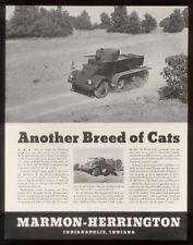 1942 Marmon-Herrington U.S. Army armored tank truck ad