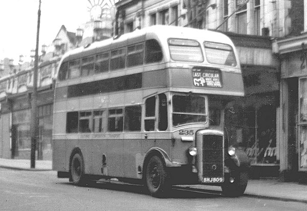 1945 Daimler double decker 235, BHJ809, rebodied with Massey bodywork