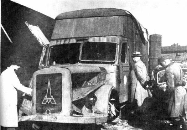 1945 Magirus-Deutz truck, similar to those used as gas vans in Chełmno extermination camp