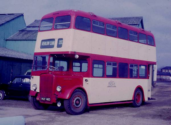 1946 Birch Bros K183, HLY483 was a Leyland PD1 with a Birch L28-25F body. It was rebodied in 1956 with an MCCW H30-26R body