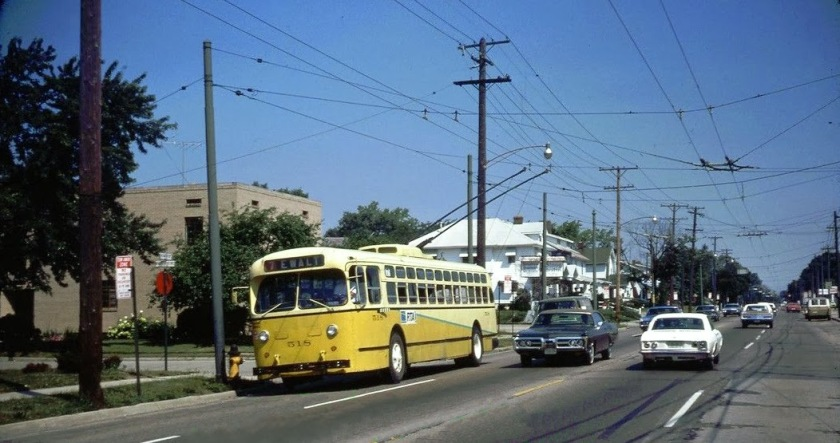 1948 Marmon-Herrington trolley bus in Dayton 1974