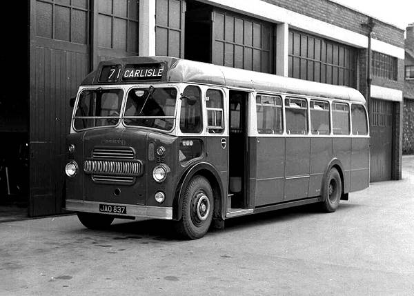 1949 Cumberland 35, JAO837, a Leyland PS1-1 with an ACB C31F body was rebodied with an Eastern Coachworks FB35F body in December 1958