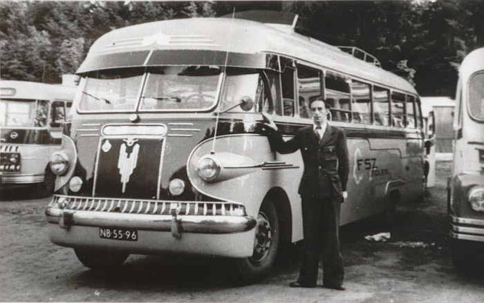 1949 DAF Medema Appingedam autobus - touringcar B-16547a