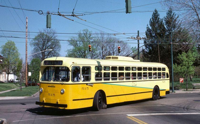 Dayton 515 (1949 Marmon-Herrington). Photo by Steve Morgan.