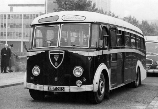 1949 Maudslay Churchbridge's shorter Marathon IIIs, Metalcraft bodied SRE 203