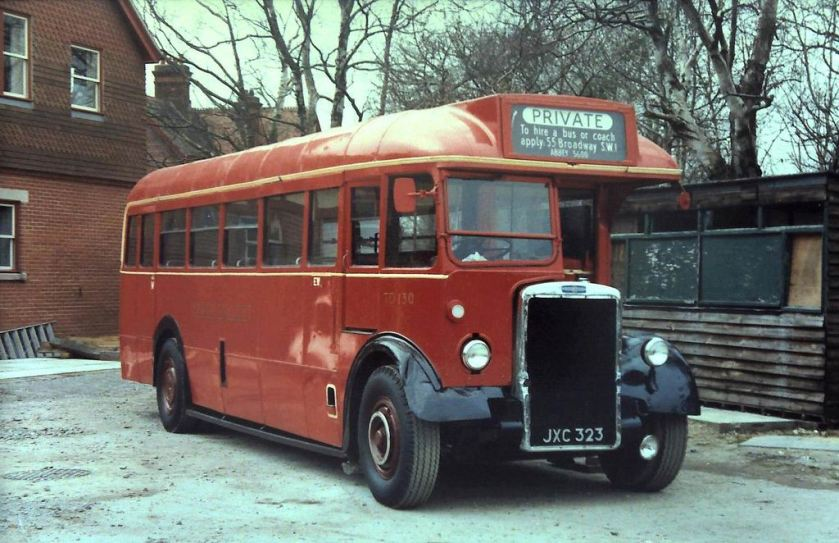 1949 TD130 (JXC 323) a Leyland Tiger PS1 with 1949 Mann Egerton B30F bodywork at Sheffield Park
