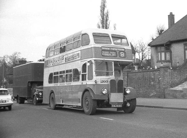 1950 AEC Regent III with elegant Massey lowbridge body