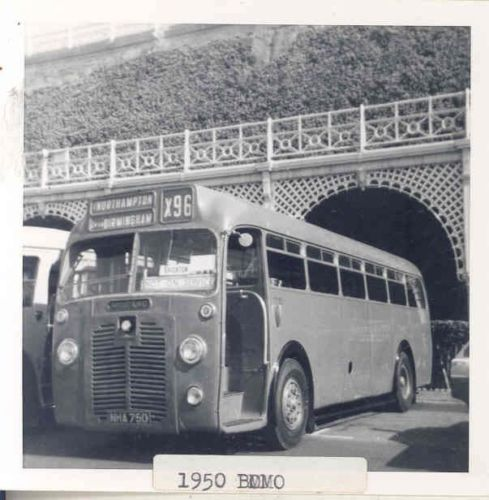 1950 BMMO S6 Midland Red MCW Bus Photo wk2595-HPYEB3a