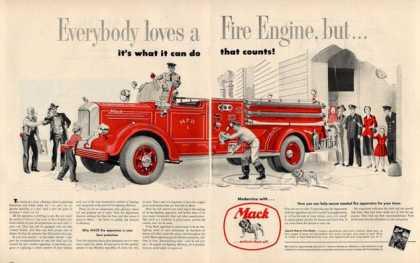 1950 Mack Fire Truck Firetruck