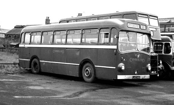 1951 Cumberland 152, LAO146, seen at Wigton was a Leyland PSU1-13 Royal Tiger with Eastern Coachworks B45F body