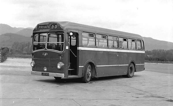 1951 Cumberland 324, LAO145, carried an early version of the ECW body which was B45F in this case