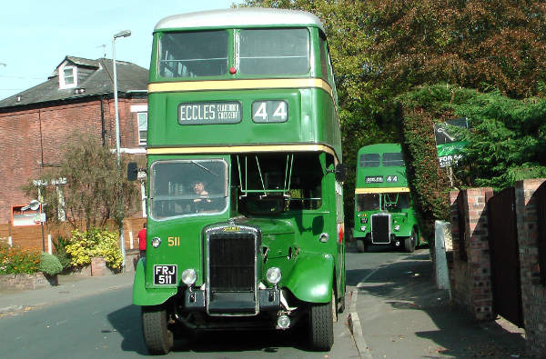 1951 Daimler CVG6 FRJ511, ex Salford City Transport, with a Metro-Cammell body