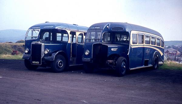 1951 left was a Leyland PS2-15 with Massey B39F body +Leyland PS2-3 with Longford C35F body 1950
