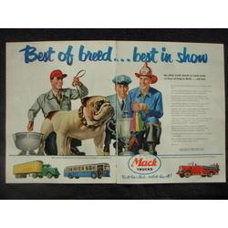1951 MACK TRUCKS, BUSES, FIRE TRUCKS, DUMP AD VINTAGE 1951